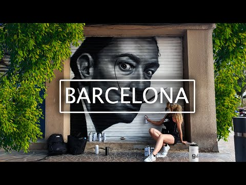 Learning About STREET ART And GRAFFITI In BARCELONA!
