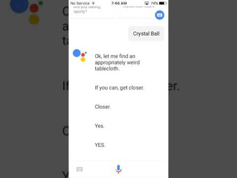 Talking to Google assistant, and hound