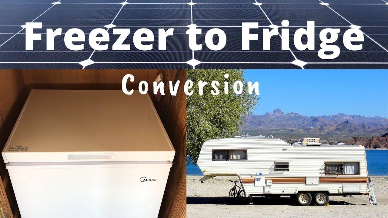 Chest Freezer to Fridge Conversion, Super Efficient Solar Powered Off-Grid  Refrigerator