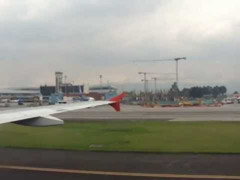 Flying into Bogota Colombia South America. Landing in Bogota Columbia Airport