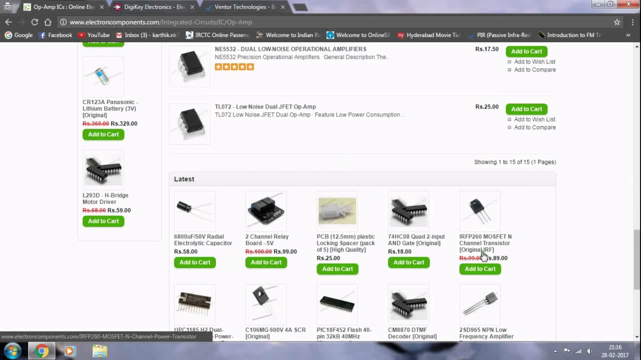 top 3 websites for buying electronic components - YouTube