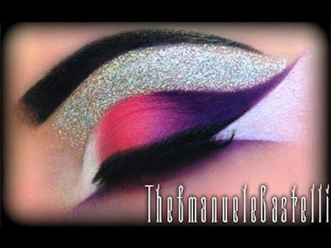 Hot Pink & Purple with Glitter - Make Up Tutorial + 120 Eyeshadow ...