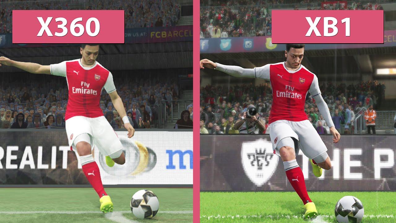 3bd4c3c5ef PES Pro Evolution Soccer 2017 – Xbox One vs. Xbox 360 Graphics Comparison  (Demo) - YouTube