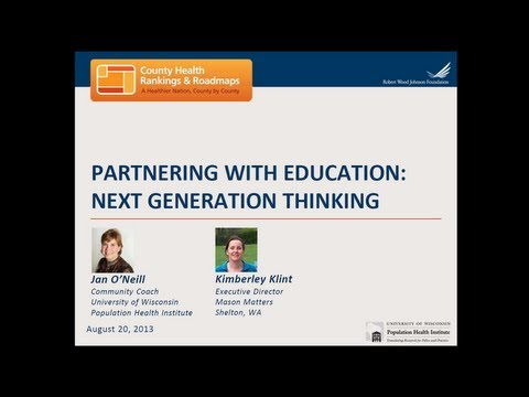 Partnering with Education: Next Generation Thinking