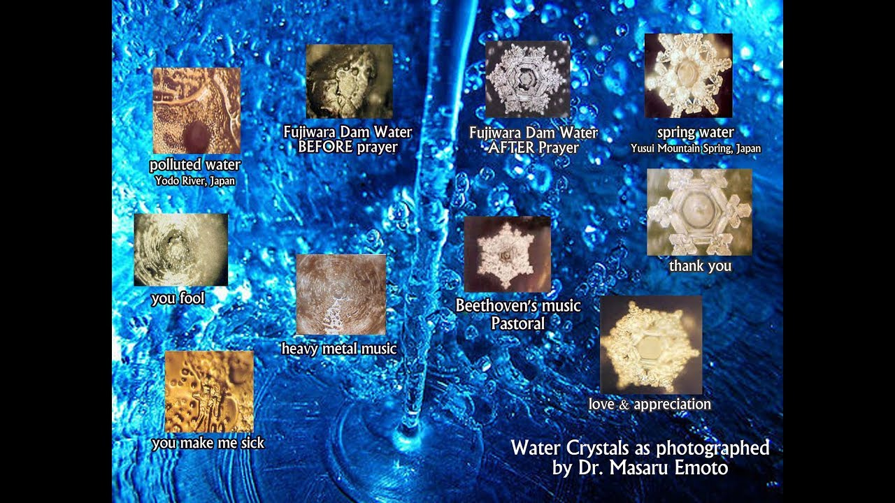 The Power Of Thoughts, Words, & Intention- Masaru Emoto's Experiments With Water- your body