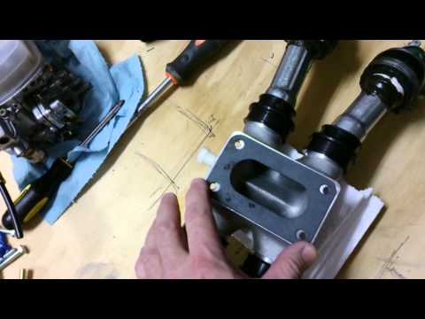 Goldwing 1100, single carb manifold - YouTube