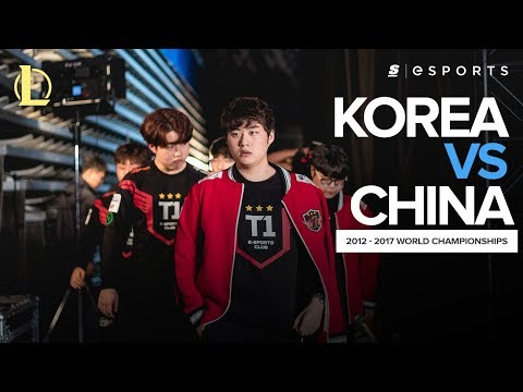 The BEST of Korea versus China from EVERY LoL World Championship ft. SKT, RNG and SSG (2012 - 2017)