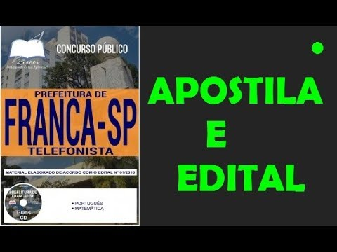 BAIXAR DE PARA TELEFONISTA APOSTILA CONCURSO