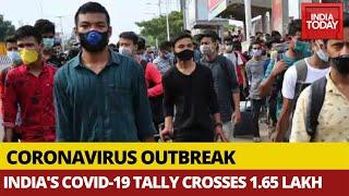 COVID-19 Tracker: India's Coronavirus Tally Crosses 1.65 Lakh, Over 7,000 New Cases In Last 24 Hours
