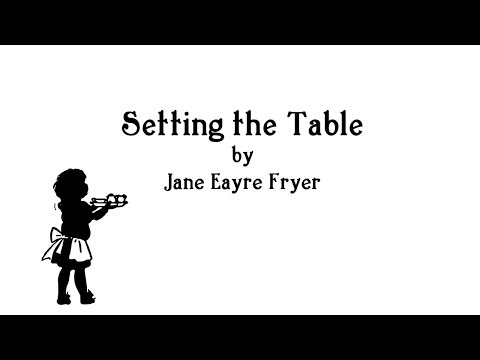 Setting the Table Song from The Mary Frances Housekeeper 100th Anniversary Edition