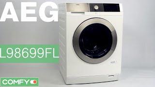 AEG L98699FL - стиральная машина с функцией отпаривания - Видеодемонстрация от Comfy.ua(AEG L98699FL - стиральная машина большой вместительности. Максимальная загрузка барабана 9 кг белья.Узнать цену,..., 2015-03-18T11:50:47.000Z)