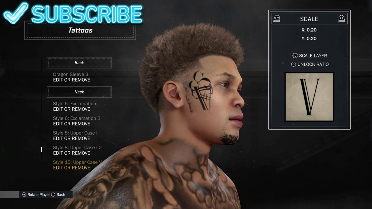 f943cb2d1 NBA 2k17 myplayer creation Gucci Mane ice cream face tattoo - YouTube
