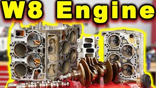 W8 Passat Engine Teardown and Inspection ~ TINY V8