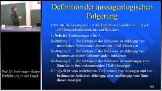 Aussagenlogik 5b: Logische Folgerung - Definition
