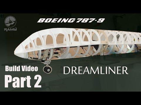 Boeing 787-9 Dreamliner RC airplane build video PART 2