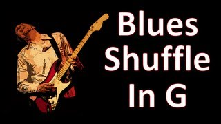Play Guitar - Backing Track Blues Shuffle In G
