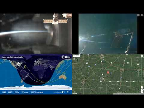 Orbital Sunset Over North America - Space Station Earth View LIVE NASA/ESA ISS Cameras And Map - 86