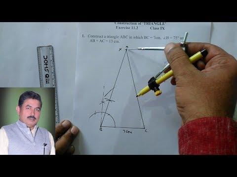 construction of triangle cbse class 9 part 1
