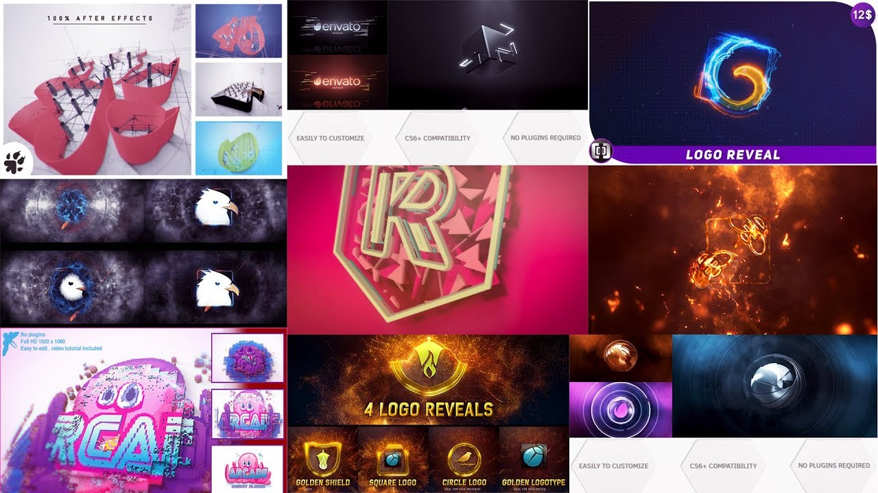 Top 15 intro logo Template Free After Effects Project Files 2018