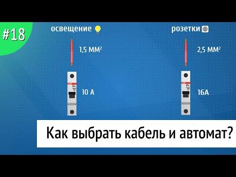 Как выбрать защитный автомат и кабель для электрического щита?Разделение электропроводки на группы.
