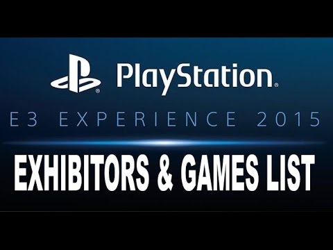 PlayStation Experience Playable Games List of Exhibitors ... Ps3 Games List 2015