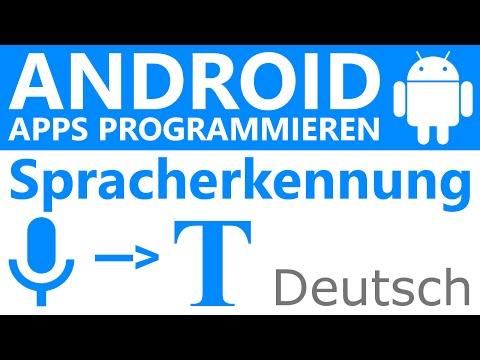 Google Spracherkennung in App integrieren - Android Apps programmieren [Deutsch / German]