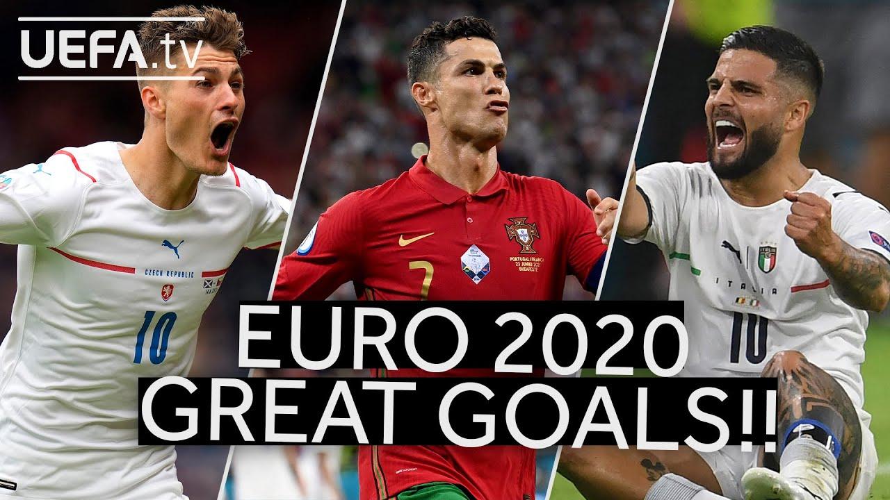 SCHICK, RONALDO, INSIGNE | Great EURO 2020 GOALS!!