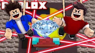 WE STOLE THE GIANT DIAMOND FROM THE BANK IN ROBLOX!