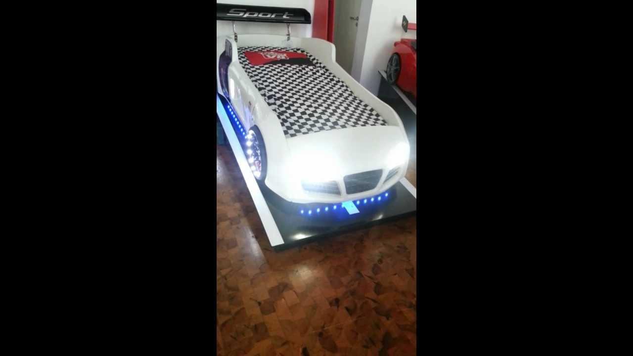 Autobett Kinderbett Turbo V8 tak3-moebel.de - YouTube