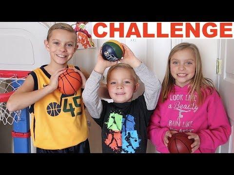 Kids CRAZY Indoor Mini Hoop Basketball Challenge 🏀