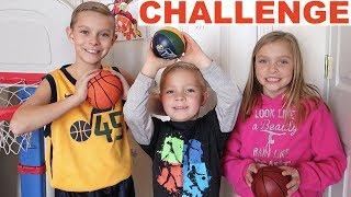 Kids CRAZY Indoor Mini Hoop Basketball Challenge
