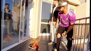 BURNING HIS FAVORITE JERSEY!!! *i finally did it*