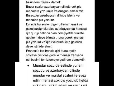 Azerbaycan Dilinde Istifade Olunan Bezi Gelme Sozlerin Menasi Tesdiqlenmish Sozler Youtube