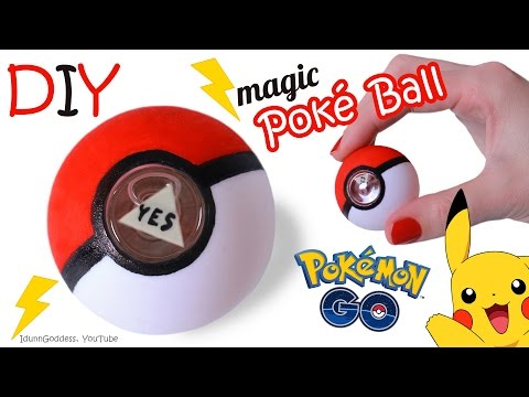 DIY Magic Poke Ball – How To Make Miniature Magic 8-Ball In Pokemon Go Style
