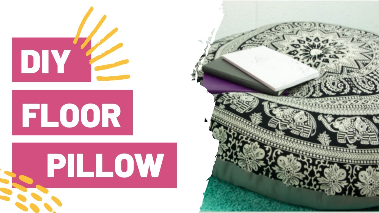 DIY Floor Pillow | Easy Sewing Tutorial - YouTube