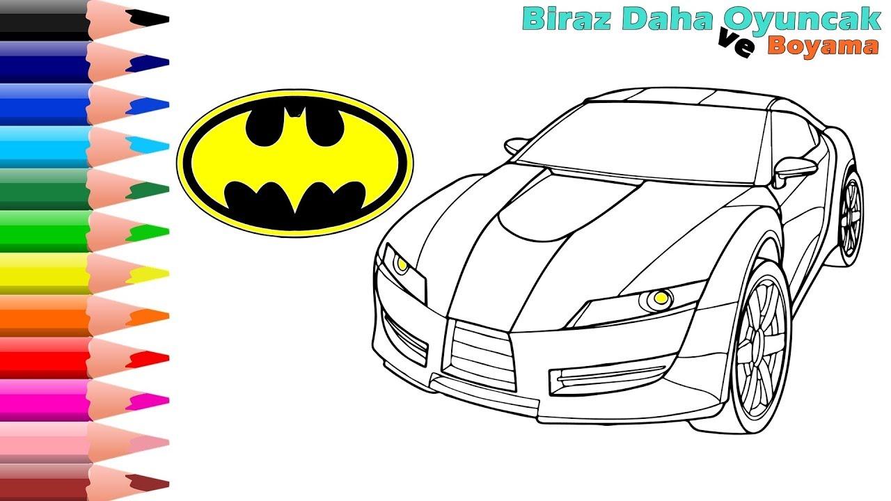 Batman Ve Araba Boyama Sayfasi Cocuklar Icin Boyamalar Youtube