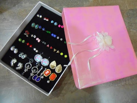 DIY: How to make Earring Holder/Organizer | AV VISUALS Wardrobe Jewellery Organiser Tutorial