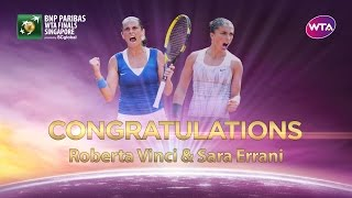 Sara Errani and Roberta Vinci first doubles team to qualify for WTA Finals
