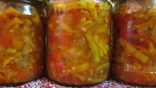 Sałatka kolorowa na zimę z fasolki szparagowej
