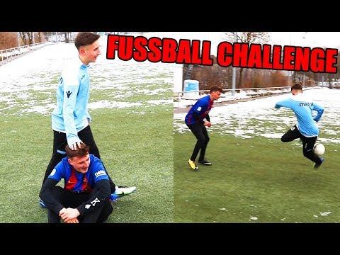 ICH WERDE GEDEMÜTIGT VON U-NATIONALSPIELER | Fußball Challenge - ViscaBarca