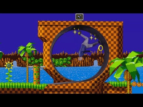 Damien Walters visits Green Hill Zone (Human Loop the Loop)
