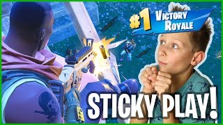 How I Escaped Sticky Situation and WON VICTORY ROYALE!