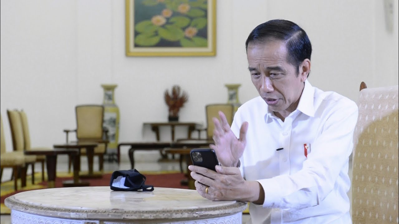 Saat Presiden Jokowi Video Call dengan dr. Faisal, dokter yang Bertugas Tangani Pasien Covid-19