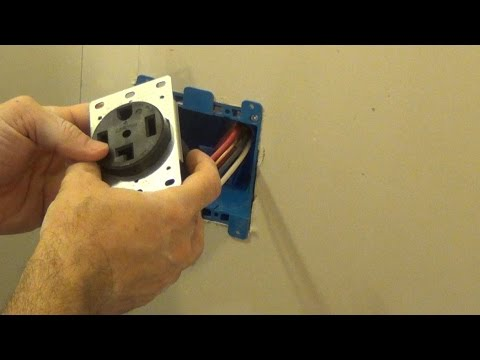 how to install and wire a 4 prong dryer plug including fishing the rh youtube com wiring 220 volt dryer outlet how to wire a 220 dryer outlet diagram