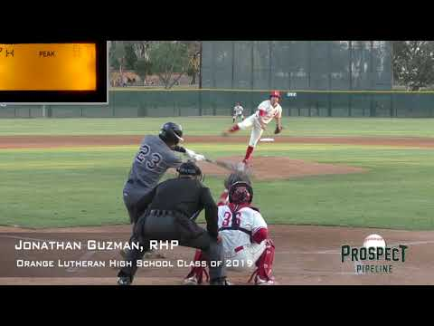 Jonathan Guzman Prospect Video, RHP, Orange Lutheran High School Class Of 2019