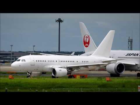真っ白な機体Cayman Islands Corporate Ownership(ケイマン諸島企業所有)Airbus A318 112 CJ Eli✈Narita Airport RWY34L