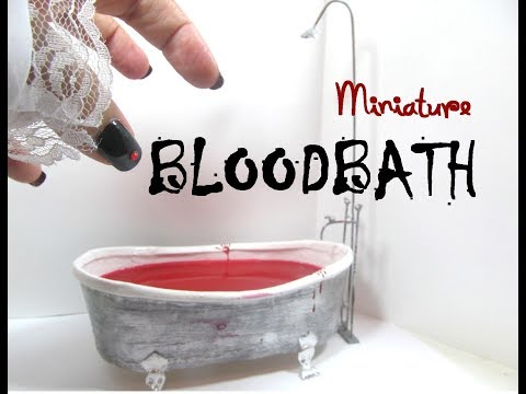Clawfoot Bathtub Bloody Bathtub Halloween diy collab made from an Ice Cream Tub