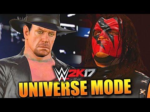 WWE 2K17 UNIVERSE MODE #10 'KANE VS TAKER WWE CHAMPIONSHIP MATCH!'