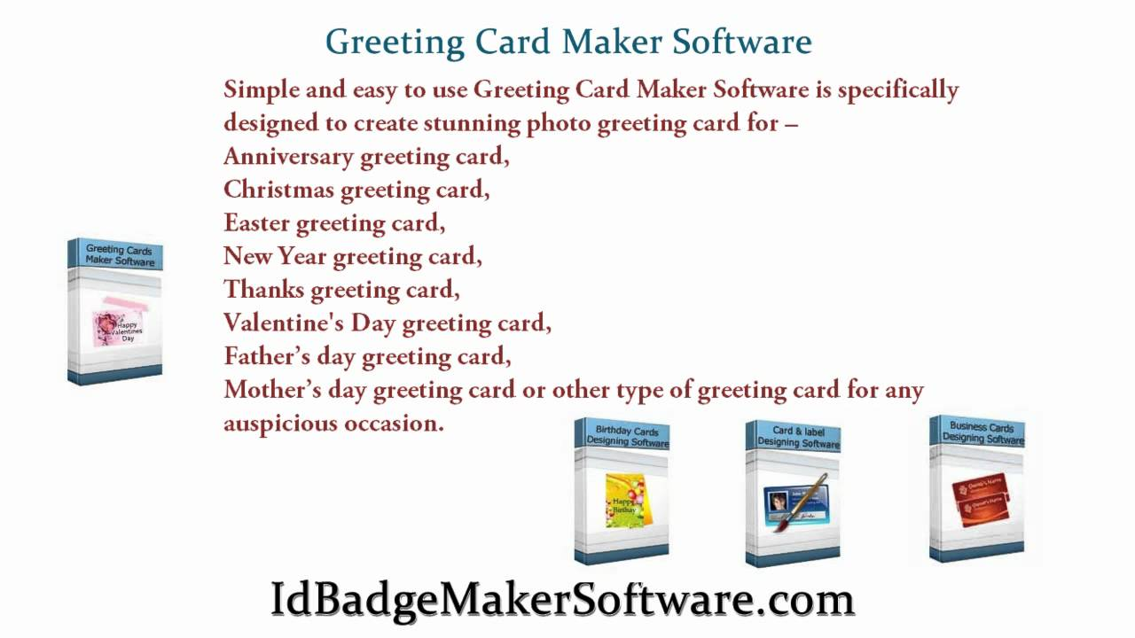 Id Badge Maker Software Card Generator Software Greeting Greetings