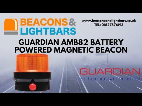 Portable AMB82 LED Flashing Strobe Beacon Battery Powered And Magnetic Base